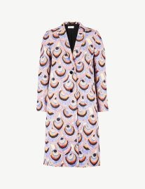 Dries van Noten Peacock metallic-brocade coat at Selfridges