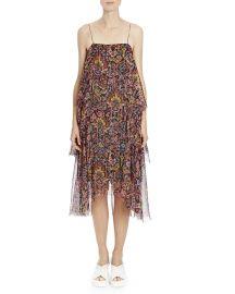Dries van Noten Shimmer Ikat Print Tiered Cami Dress at Bergdorf Goodman