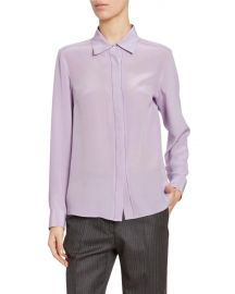 Dries van Noten Silk Button Front Blouse at Bergdorf Goodman