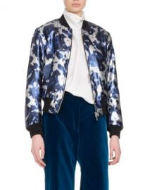 Dries van Noten Villa Satin Bomber Jacket at Bergdorf Goodman