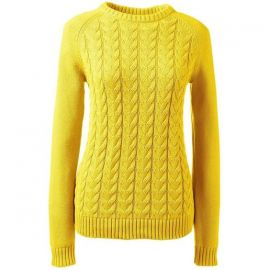 Drifter Cable Sweater at Lands End