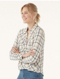 Driftwood Plaid Surplice by Splendid at QVC