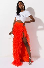 Drinks On You Tulle layered Maxi Skirt at Shop Akira