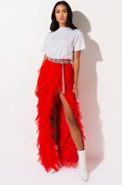 Drinks On You Tulle layered Maxi Skirt by Akira Label at Shop Akira