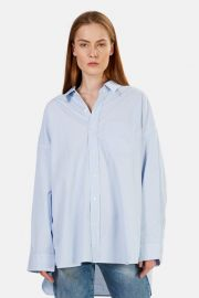 Drop Neck Oxford Shirt by R13 at Blue & Cream