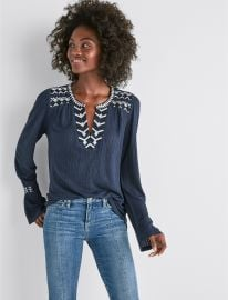 Drop Needle Embroidered Top at Lucky Brand