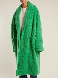 Dropped-shoulder wool-blend blanket coat at Matches
