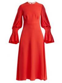 Duana gathered-detail silk-crepe dress at Matches
