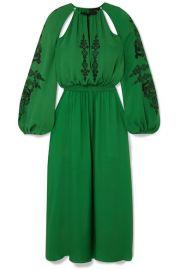 Dundas - Cutout embellished silk-crepe midi dress at Net A Porter