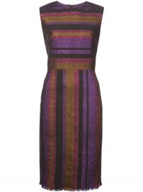 Dvf Diane Von Furstenberg Metallic Stripe Dress at Farfetch