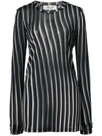 Dvf Diane Von Furstenberg Sheer Striped Fitted Pullover  168 - Shop SS18 Online - Fast Delivery  Price at Farfetch