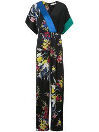 Dvf Diane Von Furstenberg Short Sleeve Wrap Jumpsuit at Farfetch