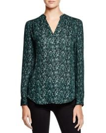 Dylan Gray Printed Silk Blouse at Bloomingdales