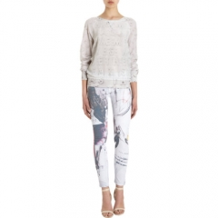 EACH X OTHER Letter Print Silk Sweatshirt at Barneys