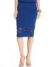 ECI Laser-Cut Pencil Skirt at Macys