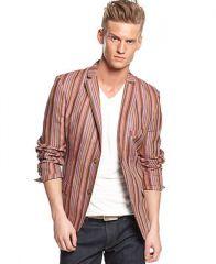 EDGE by WD-NY Striped Linen-Blend Blazer - Blazers and Sport Coats - Men - Macys at Macys