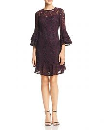 ELIZA J BELL-SLEEVE LACE DRESS at Bloomingdales