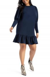 ELOQUII Flounce Hem Sweatshirt Dress  Plus Size    Nordstrom at Nordstrom