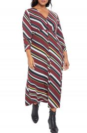 ELOQUII Long Sleeve Maxi Dress  Plus Size    Nordstrom at Nordstrom