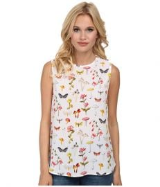 EQUIPMENT Lyle Printed Tank Top Bright White Multi at Zappos