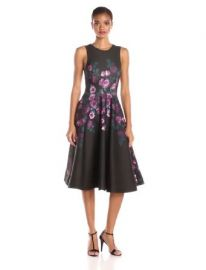 ERIN erin fetherston Womenand39s Fleur Print Fit and Flare Dress Amazon Fashion at Amazon