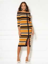 EVA MENDES COLLECTION - DAVEENA STRIPE SWEATER DRESS at NY&C