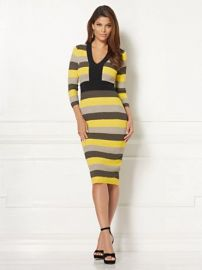 EVA MENDES COLLECTION FRANCISCA STRIPE SWEATER DRESS at NY&C