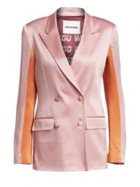 Each X Other - Colorblock Satin Blazer at Saks Fifth Avenue