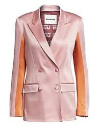 Each x Other Colorblock Satin Blazer at Saks Fifth Avenue