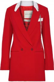 Each x Other Double-breasted embellished crepe blazer at The Outnet