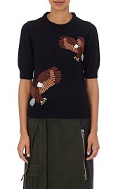 Eagle applique sweater at Barneys