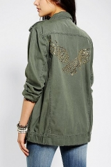 Eagle studded surplus jacket by BDG at Urban Outfitters