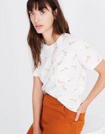 Easy Crop Tee in Daisy Sketch at Madewell