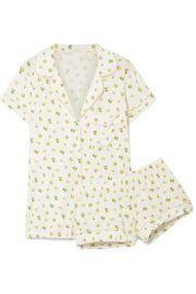 Eberjey - Dianna printed stretch-modal jersey pajama set at Net A Porter