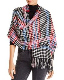 Echo Multicolored Houndstooth Scarf Jewelry  amp  Accessories - Bloomingdale s at Bloomingdales