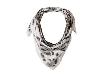 Echo New York Leopard Silk Square Scarf at Zappos