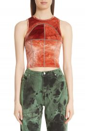 Eckhaus Latta Shiny Velour Fitted Tank   Nordstrom at Nordstrom