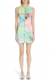 Eckhaus Latta Tie Dye Velour Minidress at Nordstrom