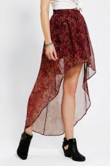 Ecote Sachi High Low Skirt at Urban Outfitters
