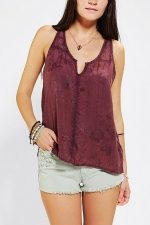 Ecote Silky Jacquard Tank Top at Urban Outfitters