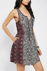 Ecote Tie-Neck Tank Dress at Urban Outfitters