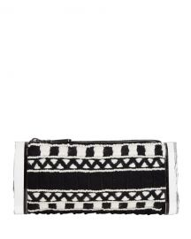 Edie ParkerSoft Lara Embroidered Clutch Bag  Black Multi at Neiman Marcus