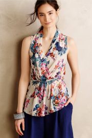 Edria Top in Floral at Anthropologie