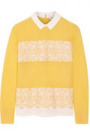 Edwina merino wool and stretch-cotton poplin sweater at The Outnet