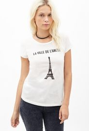 Eiffel Tower Graphic Tee  Forever 21 - 2000099321 at Forever 21