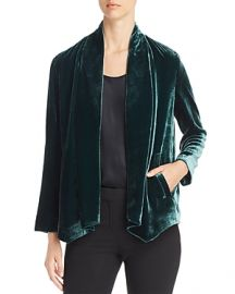 Eileen Fisher Angled Front Velvet Jacket at Bloomingdales