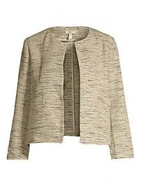 Eileen Fisher - Cotton Roundneck Cropped Jacket at Saks Fifth Avenue