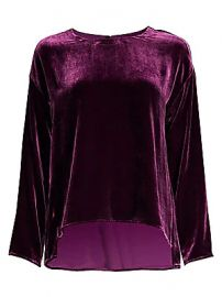 Eileen Fisher - Drape Velvet Silk Top at Saks Fifth Avenue