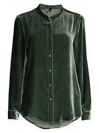Eileen Fisher - Mandarin Collar Velvet Shirt at Saks Fifth Avenue