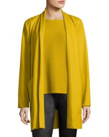 Eileen Fisher Boiled Wool Jersey Long Jacket   Neiman Marcus at Neiman Marcus